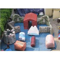 Quality Fire Proof PVC Inflatable Paintball Bunkers For Military Laser Tag Arena for sale