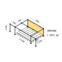 Quality Exhibitions Aluminum Stage Truss Quickly Install Made By 6082-T6 for sale