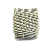 Quality 15 Degree .120''*3'' Bright Finish  Screw Shank Flat Head / Checked Head Pallet Coil Nails for sale