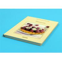 Quality Gloss Lamination Customized Cookbook Printing , Hardcover A4 Book Printing for sale
