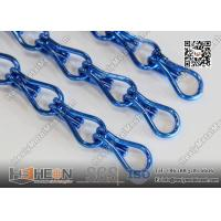 Quality Blue Color Aluminum Chain Fly Screen Drapery for Architectural Decorative Curtain for sale