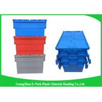 China Stackable Plastic Storage Containers With Attached Lids Heavy Duty on sale