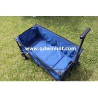 China Outdoor Collapsible Folding Utility Wagon Camping Beach Wagon Navy Blue on sale