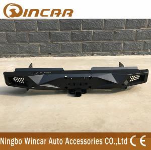Quality Standard Size Steel Rear Bumper For Hilux Revo 2015-2018 Black Color for sale