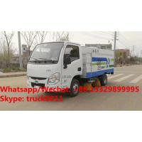 Buy cheap Factory sale good price Shangqi Yuejin 4*2 LHD gasoline smallest street sweeping vehicle,smallest road sweeper truck from wholesalers