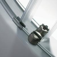 Buy Frameless Round Sliding Shower Enclosure with 10mm Clear Glass and Stainless at wholesale prices