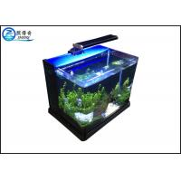 Quality Black Desktop Aquarium Fish Tank With Super Clear Glass And LED Lamp for sale