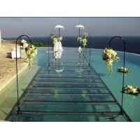 Quality Swimming Pool Toughened Glass Stage 1.22 X 1.22M For Wedding for sale