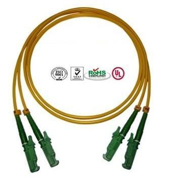 Buy 0.9mm PVC E2000 Fiber Optic Patch Cables Single Mode Double Cores at wholesale prices