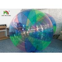 Quality 1.0 mm PVC Stripe colorful Blow Up Water Walking Ball For Amusement Park for sale