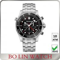 Quality Stainless Steel Case And Back Strap Mens Sporty Watches Bezel PVD Watch Custom for sale