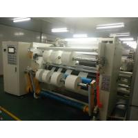 Buy 380v Film Slitter Rewinder / Adhesive Tape Slitting Machine Color Customized at wholesale prices