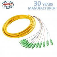 China MPO Fiber Optic Patch Cord 12 core cable connection for cable expanding on sale