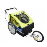 2 In 1 Double Child Bike Trailer includes bug screen and weather shield