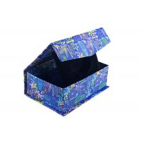 Quality Navy Blue Square Magnetic Closure Box Foldable Paper Boxes With Bowtie for sale