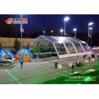 Quality Aluminum Polygon Permanent Large Storage Tents High Strength Rain Proof for sale