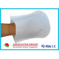 Buy cheap Coat Plastic Film Body Wash Gloves Small Dot 50 % Vis + 50 % Pes Material from wholesalers