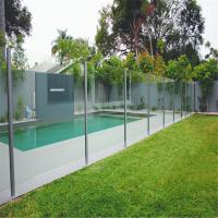 Quality stainless steel spigots Tempered glass balustrades fro swimming pool for sale