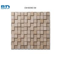 Quality Time Texture Square Stone and Glass Mosaic (Beige) for sale