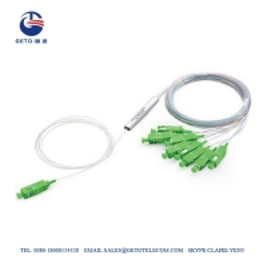 Quality SC APC SM Mini Steel Tube Type 4 Way 1x4 Fiber Optic Splitter PLC for sale
