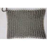 China 6*8 Inch Stainless Steel  Cast Iron Skillet Cleaner Chainmail Scrubber For Cast Iron Pan on sale
