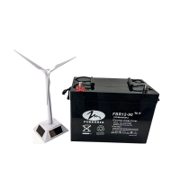 Quality FOBERRIA Maintenance Free UPS Deep Cycle Battery For Solar 175mm Agm 12v 90ah for sale