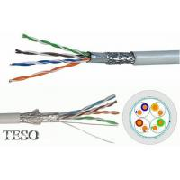 Quality SFTP Cat5e Ethernet Lan Cable Bare Copper 24awg With Pass Fluke Test , PVC Jacket for sale