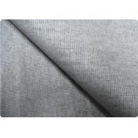 Quality Grey Linen Upholstery Fabric Sportswear / Curtain Lining Fabric for sale
