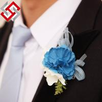 Quality Wedding Flower, Artificial Flower Head Brooch Corsage for sale