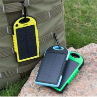 Quality 2016 Solor Charger 5000mah Portable Waterproof Solar Power Bank Backup Dual USB Powerbank for sale
