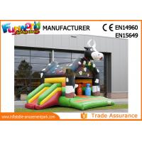 Buy cheap Large Commercial Bouncy Castles / 0.55mm PVC Tarpaulin Inflatable Cow Bouncer from wholesalers
