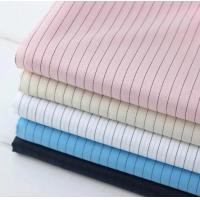 Quality Functional ESD Fabric Dust Proof 99% Plyester 1% Conductive Fabric Stripe 5mm for sale