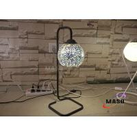 China Hot Sale Maso Metal Material Lamp Body Black Color Finishe Table Lamp Bed Lamp 3D Spark Effect Chrome-plated Glass Cover on sale