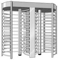 Quality Dual Channel Security Turnstile Security Revolving Doors Rust Proof 120 Degree for sale