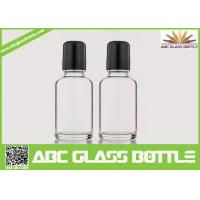 China Wholesale White 30ml Roll On Glass Bottle With Roller, Bottle Roll-on, Clear Essential Oil Glass Bottle on sale