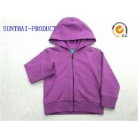 China Purple Kids Hooded Jacket Long Sleeve Baby Boy Hooded Jacket With Separated Cuff on sale