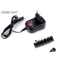 Quality 3 - 12V Adjustable Multi Voltage Power Adapter EU Plug PC ABS Material for sale