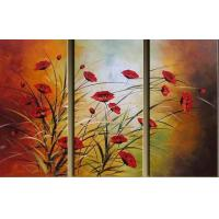 Quality flower painting TV wall decoration for sale