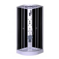 Quality Steam Massage with Electronic computer panel Circle Quadrant Shower Cabin with white acrylic tray and roof for sale
