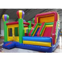 China Kids Happy Hop Jumping Castle With Slide For Birthday Party OEM on sale