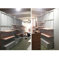 Buy Lady Retail Clothing Store Shelves With Wooden Stainless Steel Material at wholesale prices