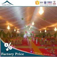 Quality 20mX50m Large Wedding Tent Party Marquee With Colorful Roof Lining and Curtain for sale