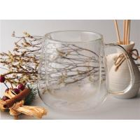 Buy 480ml Double Walled Coffee Glasses , Double Wall Glass Mug Custom Made at wholesale prices