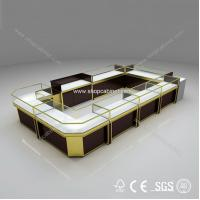 Quality showcase customized custom made jewelry showcase mall jewelry kiosk for sale for sale