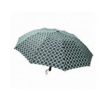 Quality 3 Section Folding Auto Open Umbrella , Printed Automatic Open Close Umbrella OEM for sale