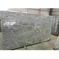 Buy cheap Polished Bookmatched Stone Slabs , Hard White Grey Polished Granite Slabs from wholesalers