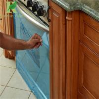 0.03-0.2mm Clear Blue PE Adhesive Film Kitchen Cabinets