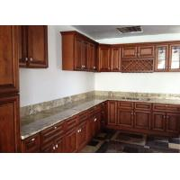Quality Fabricated Natural Stone Countertops AJ Brown Granite Cabinet Tops For Decoration for sale