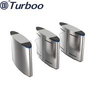 Quality Half Height Safety Access Control Turnstile Gate , Flap Barrier Gate Stainless Steel for sale
