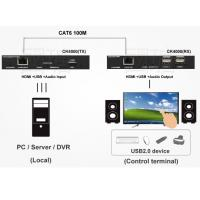 Quality Full HD 4K HDMI USB KVM Extender Over IP Can More Console with USB2.0 Hub for sale